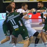 Nuić and Juzbašić directing NEXE's stunner in Prešov