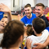 Big stars and excited youngsters at the Kids' Day in Skopje